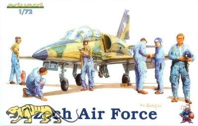 Tschechische Luftwaffe - Piloten und Bodenpersonal - Figuren-Set - 1:72