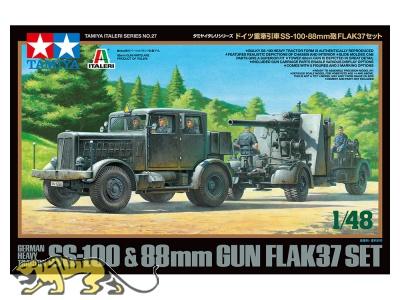 Hanomag SS-100 mit 88m Flak 37 - 1:48