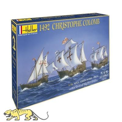 Christopher Columbus 1492 - Nina - Santa Maria - Pinta - Modellbausatz - / Starter-Set - 1:75