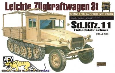 Sd.Kfz. 11 - 3t Zugkraftwagen mit Einheitsfahrerhaus - 1:35