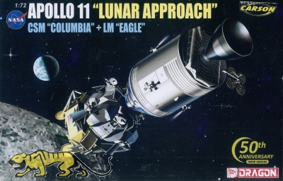 Apollo 11 - Lunar Approach - CSM Columbia + LM Eagle - 1:72