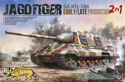 Jagdtiger - Sd.Kfz. 186 - Frühe / Späte Produktion - 2in1 - 1:35