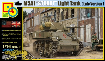 M5A1 - Stuart - US Light Tank - Late Version - 1/16