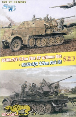 Sd.Kfz. 7/2 3,7cm Flak 37 with Armor Cab / Sd.Kfz. 7/2 3,7cm Flak 36 - 2in1 - 1/35