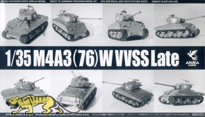 M4A3(76)W Sherman VVSS - Late Production - 1/35
