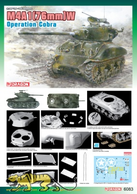 M4A1(76mm)W - Sherman - Operation Cobra - 1:35