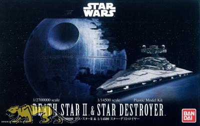 Death Star II - 1/2700000 & Star Destroyer - 1/14500