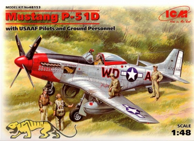 Mustang P-51D - with USAAF Pilots and Ground Personnel - 1/48