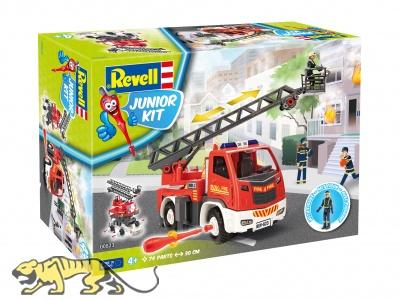 Fire brigade ladder wagon with figure - Junior Kit