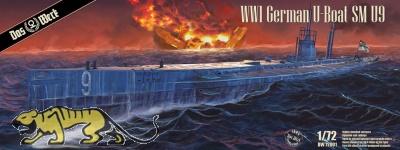 S.M. U-9 - German U-Boat - World War I - 1/72