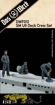 SM U-9 Deck Crew Set - 3 Figures - 1/72