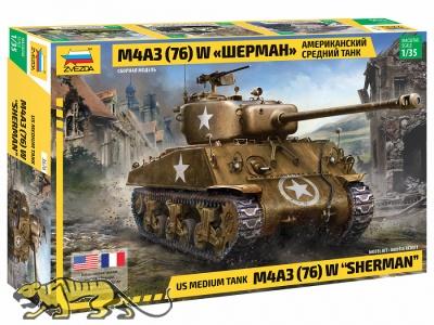 M4A3 (76) W Sherman - US Medium Tank - 1/35