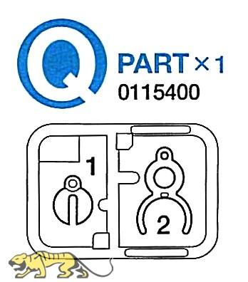Q-Parts (Q1-Q2) for Tamiya 56022, 56024, 56026, 56032 1:16