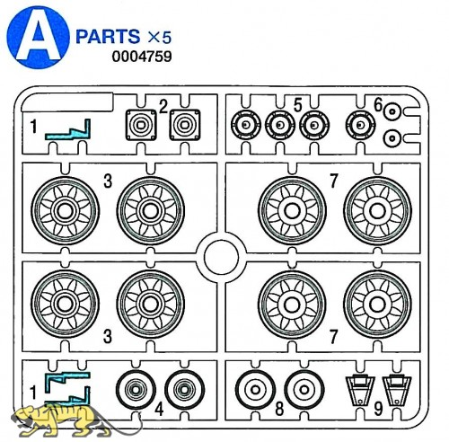 A Parts (A1-A9) for Tamiya Panzer IV Ausf. J (56026) 1:16