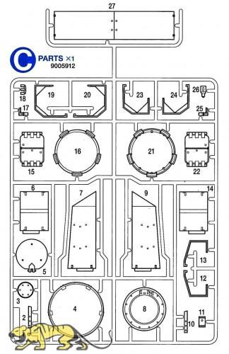C Parts (C1-C27) for Tamiya Panzer IV Ausf. J (56026) 1:16