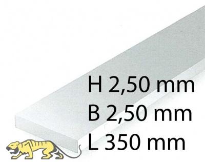 Plastik-Streifen - 2,50 x 2,50 x 350 mm (8 Stück)