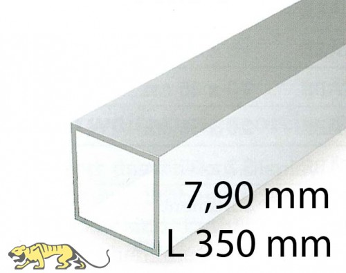 Square tubings - 7,90 x 350 mm (2 Pcs.)