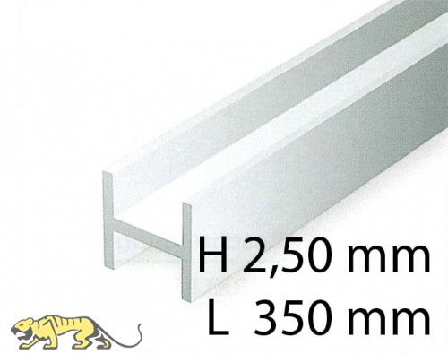 H-Beams - 2,50 x 350 mm (4 Pcs.)