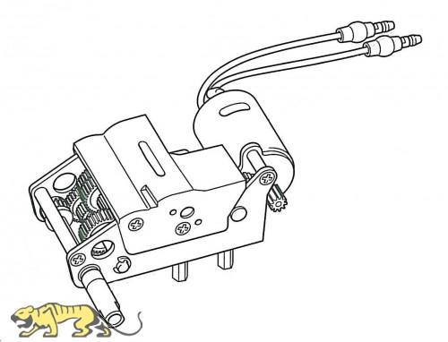 Gearbox Unit B (right) for Tamiya KV-1 / KV-2 (56028, 56030) 1:16