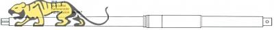 Gun barrel for Tamiya King Tiger (56018) 1:16