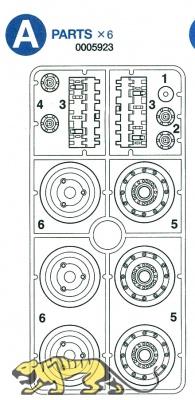 A Parts (A1-A6) for Tamiya King Tiger (56018) 1:16
