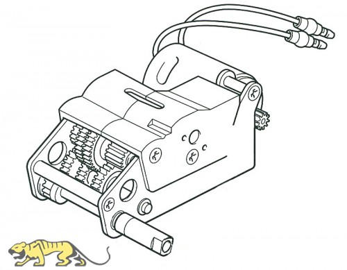 Gear Box L for Tamiya King Tiger (56018) 1:16