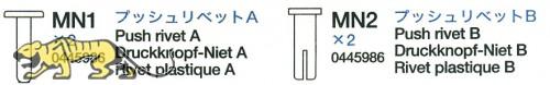 Druckkopfnieten A & B (MN1 & MN2 x2) für Tamiya 56018