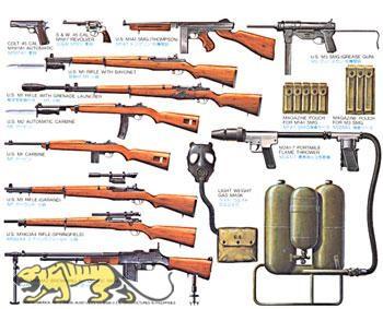 U.S. Infanteriewaffen Set - 1:35