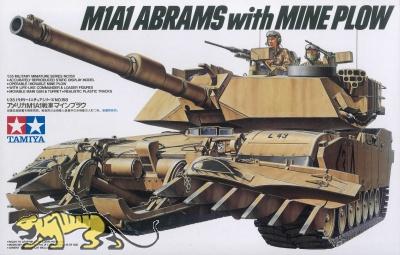 US M1A1 Abrams mit Minenpflug - 1:35