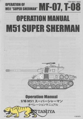 Operation Manual for Tamiya Super Sherman (56032) 1:16