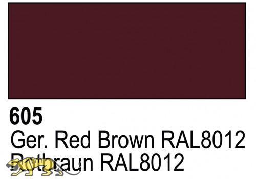 Primer German Red Brown RAL8012 Acrylic Polyurethan - 17ml