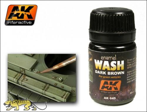 AK-045 Dark Brown Wash / Dunkel braunes Wash