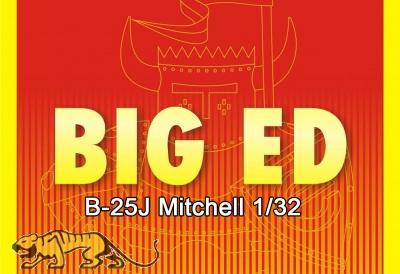 Big Ed Photo-Etched Parts Set for HK Models 1/32 B-25J Mitchell