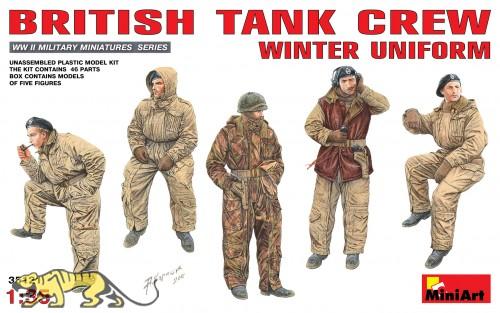Britische Panzerbesatzung in Winteruniform - 1:35