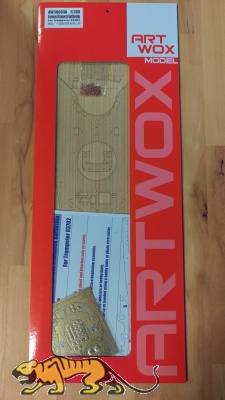 Holzdeck (Ahorn) für 1:200 DKM Bismarck - Trumpeter 03702
