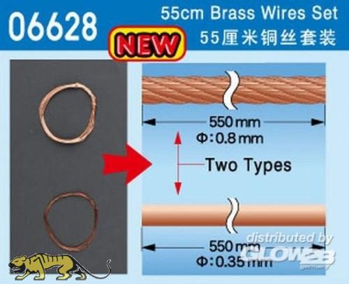 Universelles Kupferdraht / Seil Set - 55 cm lang, zwei Versionen - je