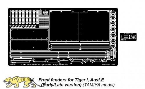 Frontschutzbleche Tiger I Ausf. E früh/spät