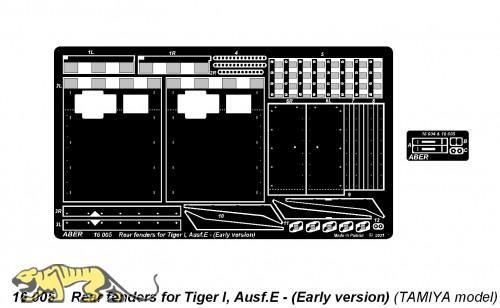 Heckschutzbleche Tiger I Ausf. E früh