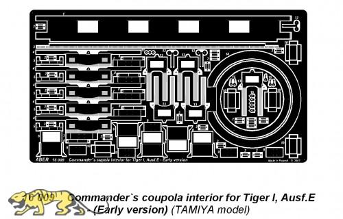 Kommandantenkuppel Innendetails Tiger I früh
