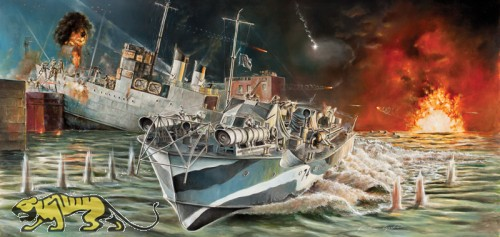 Britisches Vosper MTB 74 (Motor Torpedo Boat) - St. Nazaire Raid - 1:35