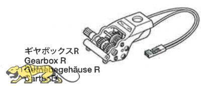 Tamiya RC-Getriebe rechts - für diverse Anwendungen