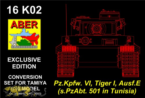 ABER Conversion Set for Tiger I early Production - Tunisia sPzAbt 501