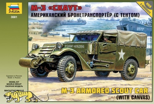 US M3 Armored Scout Car - mit Verdeck - 1:35