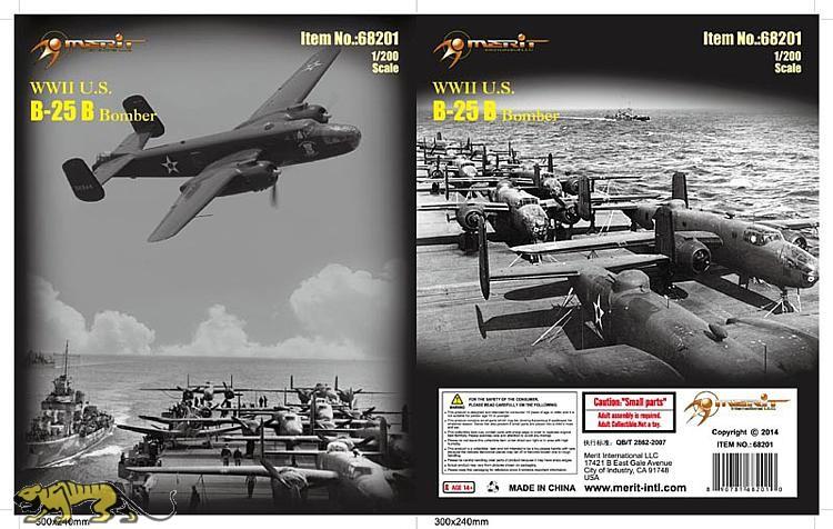 WWII U S  B-25 Bomber - 1/200