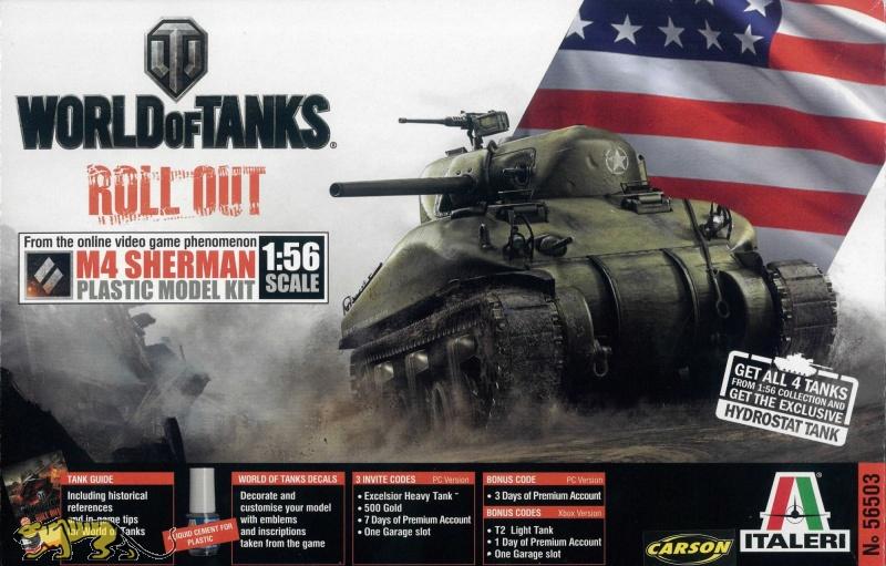 World of Tanks M4 SHERMAN 156 Italeri IT56503 Axels Modellbau