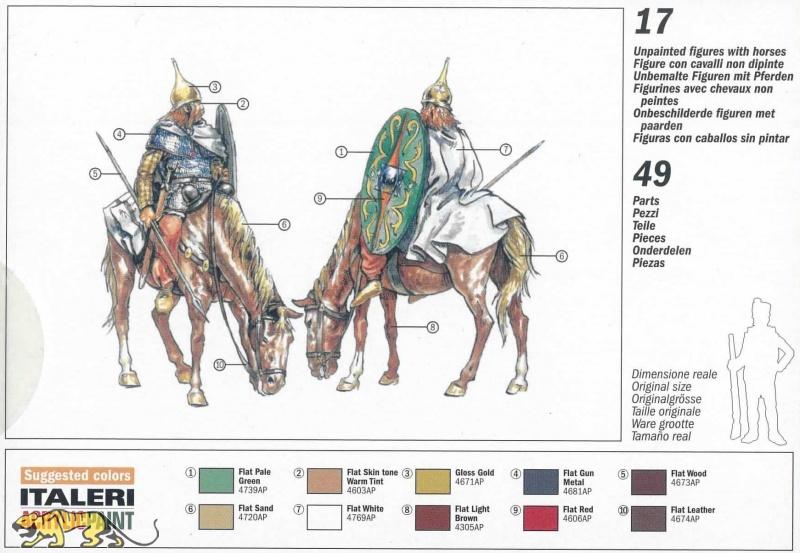 Italeri 6029-1:72 Modellbausatz unbemalt Plastikmodellbau Kelten Kavallerie