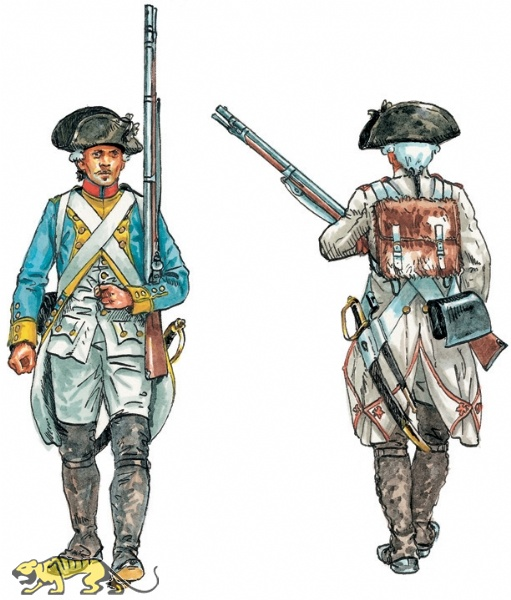 TEXTURED FRENCH INFANTRY SET 1 FRENCH INDIAN WARS 1754-1763