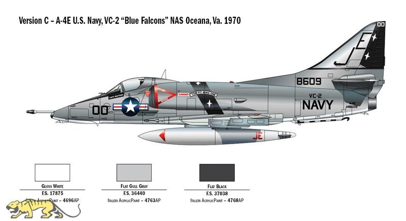 A-4 E//F//G Skyhawk Kit ITALERI /'1:48 IT2671 Model