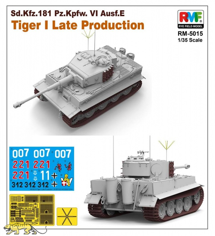 Rye Field Model Tiger I Ausf. E - späte Produktion - 1:35 (RM-5015) - Axels  Modellbau Shop