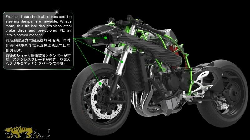 Kawasaki Ninja H2r Pre Colored Edition 19 Meng Model Memt 001s